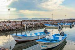 Barcos de pesca en el puerto Imagen de archivo libre de regalías