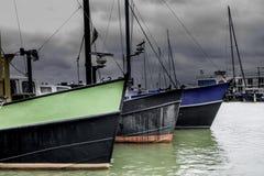 Barcos de pesca en el puerto Foto de archivo libre de regalías