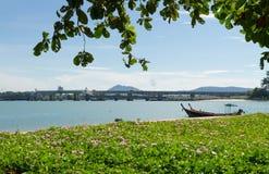 Barcos de pesca en el seascape3 Foto de archivo libre de regalías