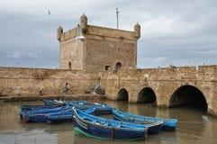 Barcos de pesca en Essaouira, Marruecos Imágenes de archivo libres de regalías