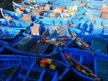 Barcos de pesca en Essaouira, Marruecos Imagen de archivo