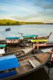 Barcos de pesca en Krabi 3 Imagen de archivo
