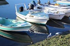 Barcos de pesca en Lisboa Fotos de archivo libres de regalías