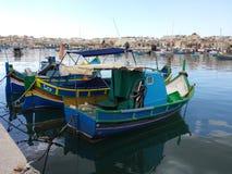 Barcos de pesca en Malta Foto de archivo