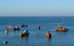 Barcos de pesca en Nha Trang, Vietnam meridional Fotografía de archivo libre de regalías