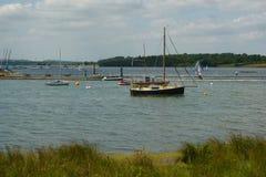 Barcos de pesca en Rutland Water Foto de archivo