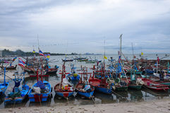 Barcos de pesca en Tailandia Imagen de archivo libre de regalías