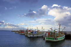 Barcos de pesca en Vishoek Imagen de archivo