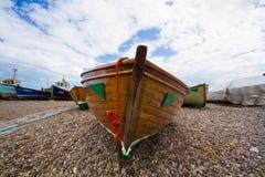 Barcos de pesca encalhados Imagens de Stock