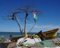 Barcos de pesca encalhados Imagem de Stock Royalty Free
