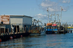 Barcos de pesca entrados Fotografia de Stock Royalty Free