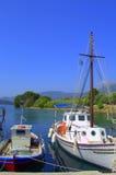 Barcos de pesca, Greece Fotos de Stock