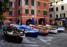 Barcos de pesca italianos Imagen de archivo libre de regalías
