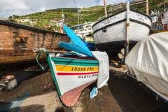 Barcos de pesca de madera Imagenes de archivo