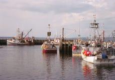 Barcos de pesca na doca Fotografia de Stock Royalty Free
