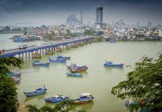 Barcos de pesca, Nha Trang, Vietnam Fotografía de archivo libre de regalías