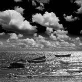 Barcos de pesca no mar. Fotografia de Stock