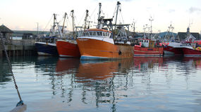 Barcos de pesca, Padstow, Cornualha, Reino Unido Imagens de Stock Royalty Free