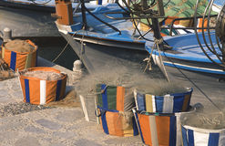 Barcos de pesca, paphos, Chipre Foto de Stock Royalty Free