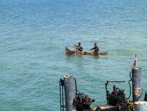 barcos de pesca pequenos na baía oagascar, Foto de Stock Royalty Free