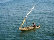 barcos de pesca pequenos na baía oagascar, Imagem de Stock