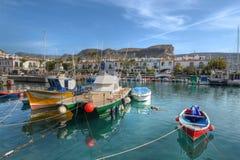 Barcos de pesca Puerto de Mogan Gran Canaria España Imagenes de archivo
