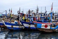 Barcos de pesca de Sekondi Fotos de Stock Royalty Free