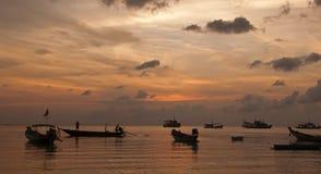 Barcos de pesca tailandeses Fotos de archivo libres de regalías