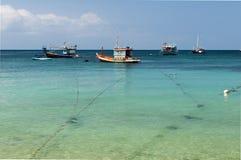 Barcos de pesca tailandeses Foto de archivo libre de regalías