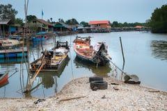 Barcos de pesca tailandeses Imágenes de archivo libres de regalías