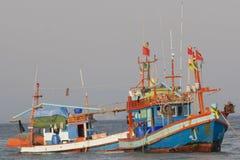 Barcos de pesca tailandeses Fotografia de Stock Royalty Free