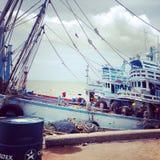 Barcos de pesca tailandeses Fotos de Stock