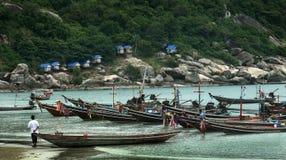 Barcos de pesca tailandeses Foto de archivo