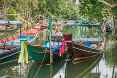 Barcos de pesca tailandeses tradicionais Imagem de Stock