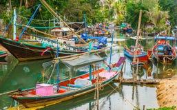 Barcos de pesca tailandeses tradicionales Imágenes de archivo libres de regalías