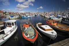 Barcos de pesca toda sobre Fotografia de Stock Royalty Free