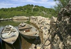 Barcos de pesca tradicionais Foto de Stock