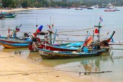 Barcos de pesca tradicionais em Tailândia Fotografia de Stock