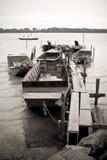 Barcos de pesca tradicionales de Danubio del río Fotografía de archivo libre de regalías
