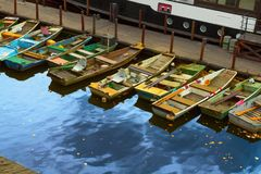 Barcos de pesca velhos Imagens de Stock