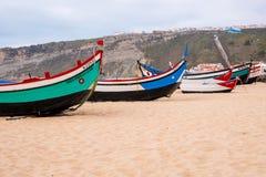 Barcos de pesca velhos da forma imagem de stock