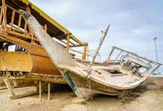 Barcos de pesca velhos em Dibba, UAE Foto de Stock