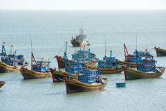Barcos de pesca, Vietnam Imagen de archivo