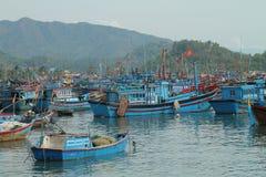 Barcos de pesca vietnamianos Imagens de Stock Royalty Free