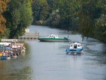 Barcos de policía Foto de archivo libre de regalías