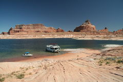 Barcos de Powell del lago Imagen de archivo