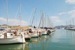 Barcos de Puerto Pollensa, Majorca Fotos de archivo libres de regalías