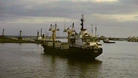 Barcos de Puerto Saíd almacen de metraje de vídeo