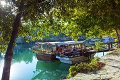 Barcos de río de Manavgat Foto de archivo libre de regalías