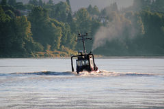 Barcos de río de trabajo Fotografía de archivo libre de regalías